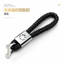 Mens Leather Key Chain Ring Holder Keyfob Car Logo Keyring Keychain Pendant Gift