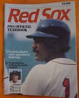 1984 BOSTON RED SOX YEARBOOK MAGAZINE BOGGS ECKERSLEY RICE