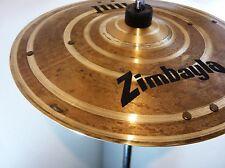 """13 11/16"""" Zimbayla Bakersfield Modded Cymbal 516g SIZZLE Rivets CRASH Trash stac"""