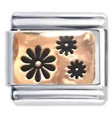 DAISY FLOWERS - Rose Gold La Cima JSC Italian Charms Fits Nomination Classic