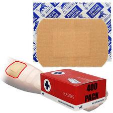 8 Boxes, 400 Blue Lion Large Pad 7.2cm x 5.1cm First Aid Wound Cut Plasters