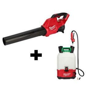 Milwaukee Backpack Pesticide Sprayer Switch Tank 18-V 450 CFM Blower Combo Kit