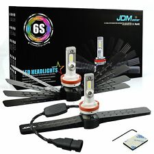 JDM ASTAR 6S 8000LM H11 LED Headlight High/Low Beam Bulbs Xenon White Fog Light