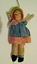 Small Vintage Antique Cloth Doll French deco Beddoll