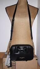 NWT $118 KARL LAGERFELD Paris KRIS Bow Crossbody Bag Black Small Handbag Purse