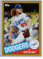 Dustin May 2020 Topps 1985 35th Anniversary 5x7 Gold #85-57 /10 Dodgers