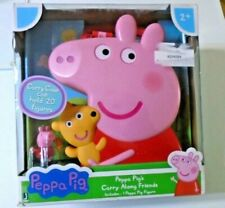 Peppa Pig's Carry Along Friends Storage Case with 1 Peppa Pig Figure BRAND NEW
