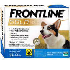 FRONTLINE GOLD FOR DOGS 23 TO 44 LBS 3 DOSES EPA Approved !!  FREE SHIPPING !!