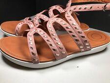 Fitflop Strata Gladiator Sandals Whipstitch Dusky Pink size 9  $129