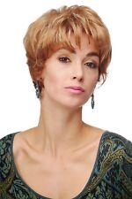 PERRUQUE pour femme court coiffure cheveux Blond Mix léger ondulés 4066-g27