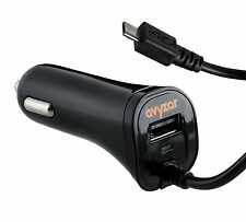 Avyzar Rapid Dual Car Charger USB Micro USB Samsung Galaxy S6 S5 S4 Note2 Note3