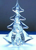"""Hand blown 6""""Tall Glass Christmas Tree with no Makers Mark"""