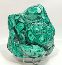 "6.88"" XL POLISHED BULLSEYE MALACHITE 6 3/4 LBS - CONGO A-238"