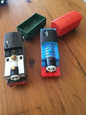 Lot of 2 Thomas the Train Trackmaster Engines Thomas And Freddie With Cars Works
