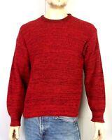 vtg 80s St. John's Bay Red Acrylic Birdseye Knit Crew Sweater Pullover sz M