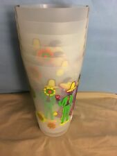 Day Of The Dead Outdoor Ice Tea Glasses Set Of 6 Colorful Cups  NEW