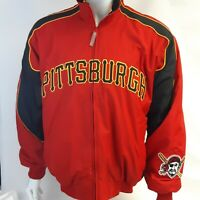 Vintage Red Pittsburgh Pirates Majestic MLB Baseball Insulated Windbreaker Coat
