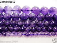 Grade A Natural Amethyst Gemstone Round Beads 16'' 2mm 3mm 4mm 6mm 8mm 10mm 12mm