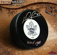 DARRYL SITTLER Toronto Maple Leafs Signed Orginal 6 Logo Puck w/ HOF Inscription