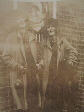 ANTIQUE FLAPPER GIRLS POSTER BOYFRIEND MATCHING SHOES PURSE IMPRESSIONIST PHOTO