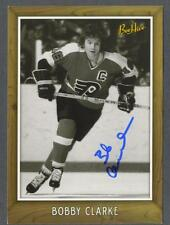 Bobby Clarke signed Flyers Bee-Hive photo card