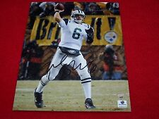 MARK SANCHEZ NY JETS  Signed 8x10 SNOW GAME PHOTO GAI GLOBAL CERTIFIED