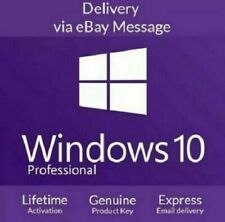 Windows10 Pro Professional 32/64bit Activation License Key - Instant Delivery