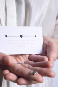 Trauzeugin Danke - Karte - Herz Armband Gold oder Silber plus Geschenkumschlag
