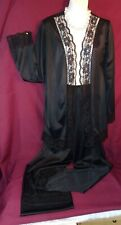 New listing Vintage Silky Black Nylon Lounging Set by Undercover Wear size M