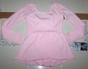 Nwt New Danskin Leotard Leo Dress Skirt Long Sleeve Dance Pink Nice Cute Girl