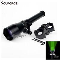 ND3X50 Subzero Green Laser Flashlight Designator&Scope Mounts for Rifle Hunting