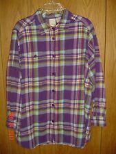 Women's ROAMAN'S Flannel Plaid Checkered Long Sleeve Shirt Plus Size 20W FC112
