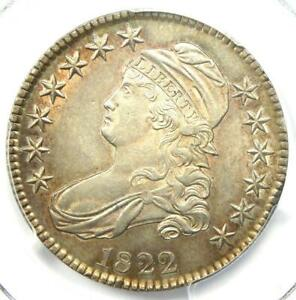 1822 Capped Bust Half Dollar 50C Coin - Certified PCGS AU58 - $1,500 Value!