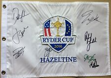 2016 Ryder Cup flag signed by PHIL MICKELSON Jordan Spieth DUSTIN JOHNSON PGA US