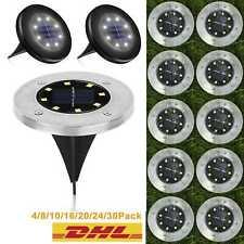 LED Solarlampe Bodenstrahler Garten Leuchte Bodeneinbauleuchte Außenleuchte DHL