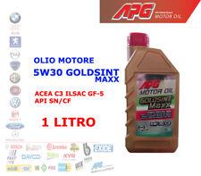 OLIO MOTORE AUTO BENZINA DIESEL 1 LT 5W30 APG GOLDSINT MAXX ACEA C3 ILSAC GF-5