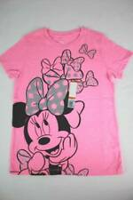 NEW Girls Graphic T-Shirt XS 4 - 5 Minnie Mickey Mouse Pink Top Glitter Bows