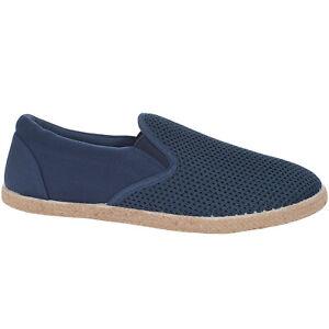Lambretta Mens Kyak Knit Slip On Casual Knitted Mesh Espadrilles Pumps Shoes