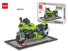 Nano Block Motorcycle Green Dr.star Diamond Building Block Mini Block Toys Gift