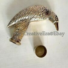 Handmade Brass Crow Vintage Style Handle Head For Wooden Walking Cane