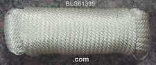 """(1) White Solid Braid Nylon 1/4"""" in x 100' ft Boat Marine Utility Line Rope Cord"""