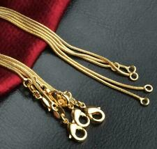 18k Gold Snake Chain Necklace Lobster Clasp Size 6mm