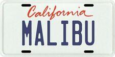 MALIBU California Metal CA License Plate