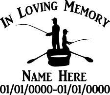 In Loving Memory Fishing Boat Custom Vinyl Decal Sticker Car Truck Home Window