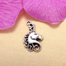 5Pcs Retro Unicorn Charm Pendants Bead Jewelry Necklace Accessories DIY Women