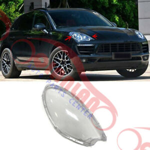 Right Side Headlight Headlamp Lens Cover With Glue For Porsche Macan 2015-2018