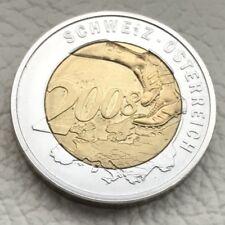 Medaille * Fußball EM 2008 Schweiz 🇨🇭 Österreich 🇦🇹 * Ø 26 mm - 13 g