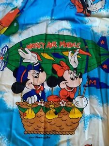 Vintage Walt Disney Production Air Mobile Mickey Mouse Curtains 2 panels.