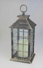 Bronze lanterne avec bougie led intérieur ou extérieur sans flamme