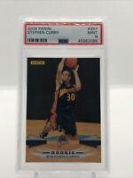 2009-10 Panini #357 Stephen Curry Rookie RC PSA 9 Mint